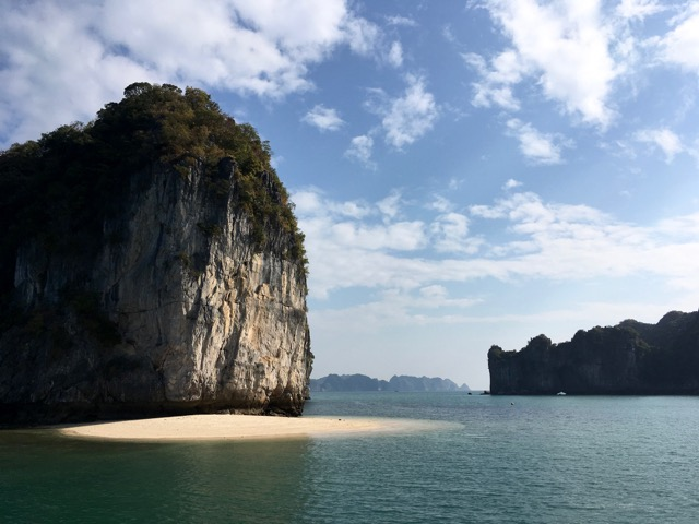 Private beach, Ha Lang Bay