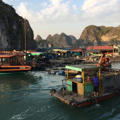 Floating village, Cat Ba