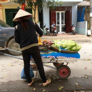 Favortie street food: corn and sweet potato