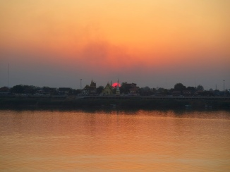 Another sunset in Thakhek, Thailand on the other side