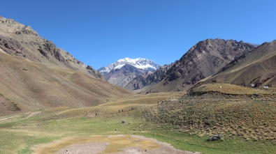 Aconcagua, seen from Park entrance